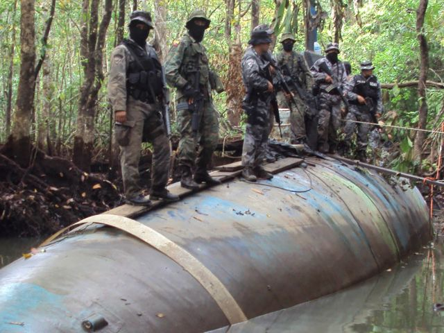 Narco submarine discovered in the Amazon Jungle